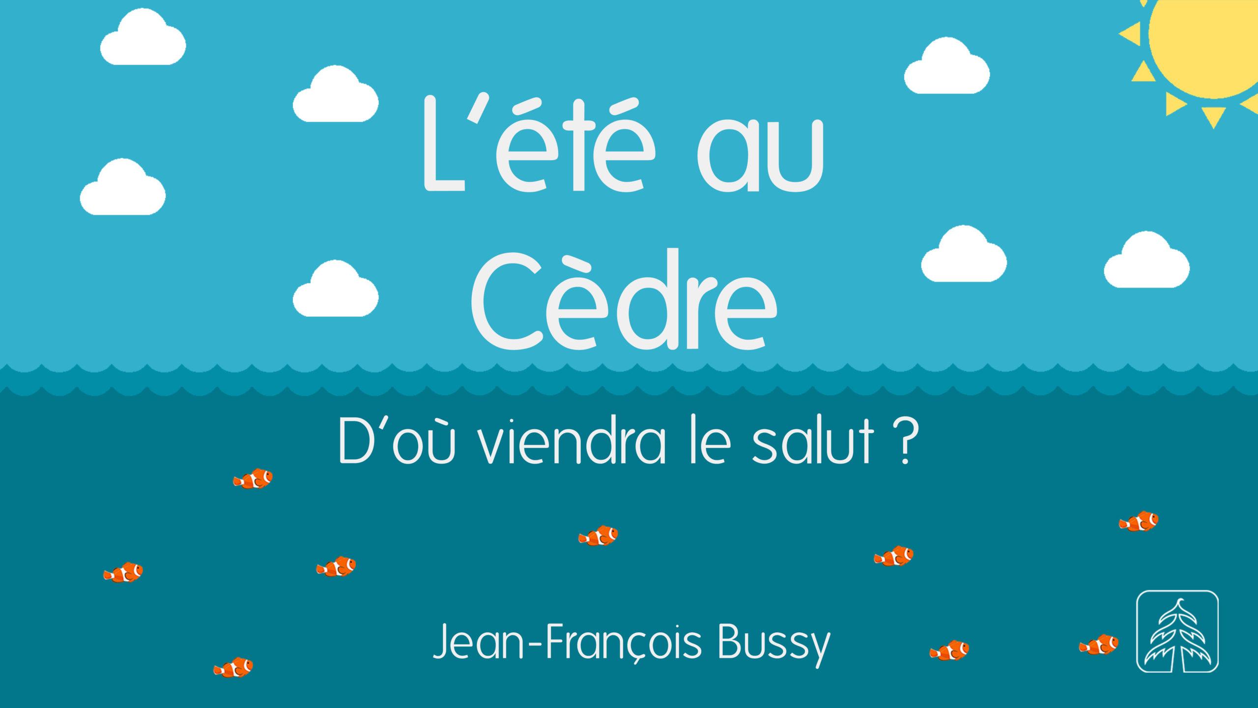 D'où viendra le salut _ _ 18 juillet 2021 _ Jean-François Bussy
